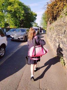 Claudia last day of school