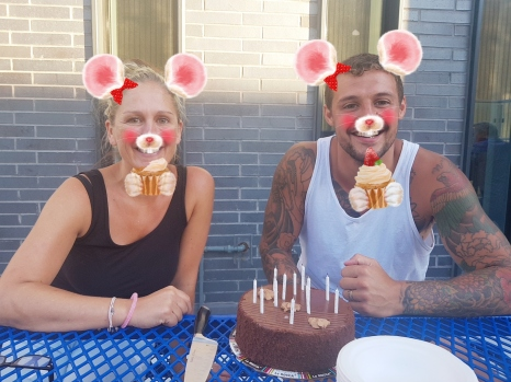 I celebrated my birthday - the same day as player Greg