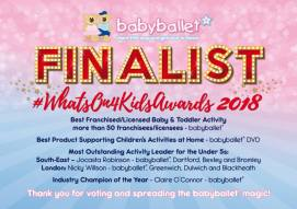 what's on for 4 kids awards 2018 claire oconnor babyballet